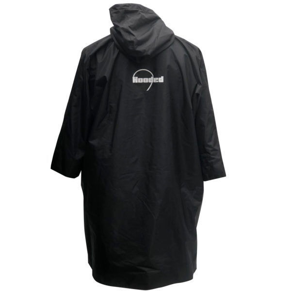 Large hood for protection from the elements and to get into easily great for sports clubs and school merchandise