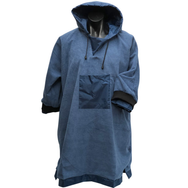 Waterproof ponchos with microfibre inside layer with internal pocket